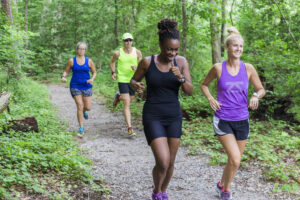 Runners at Appomattox River Regional Park